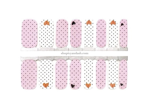 Polkadot Love Nail Wrap Set