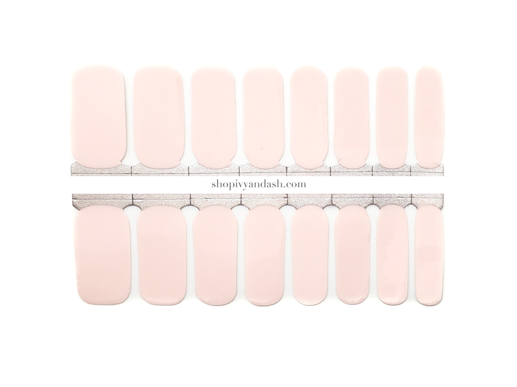 Powder Pink Nail Wrap Set