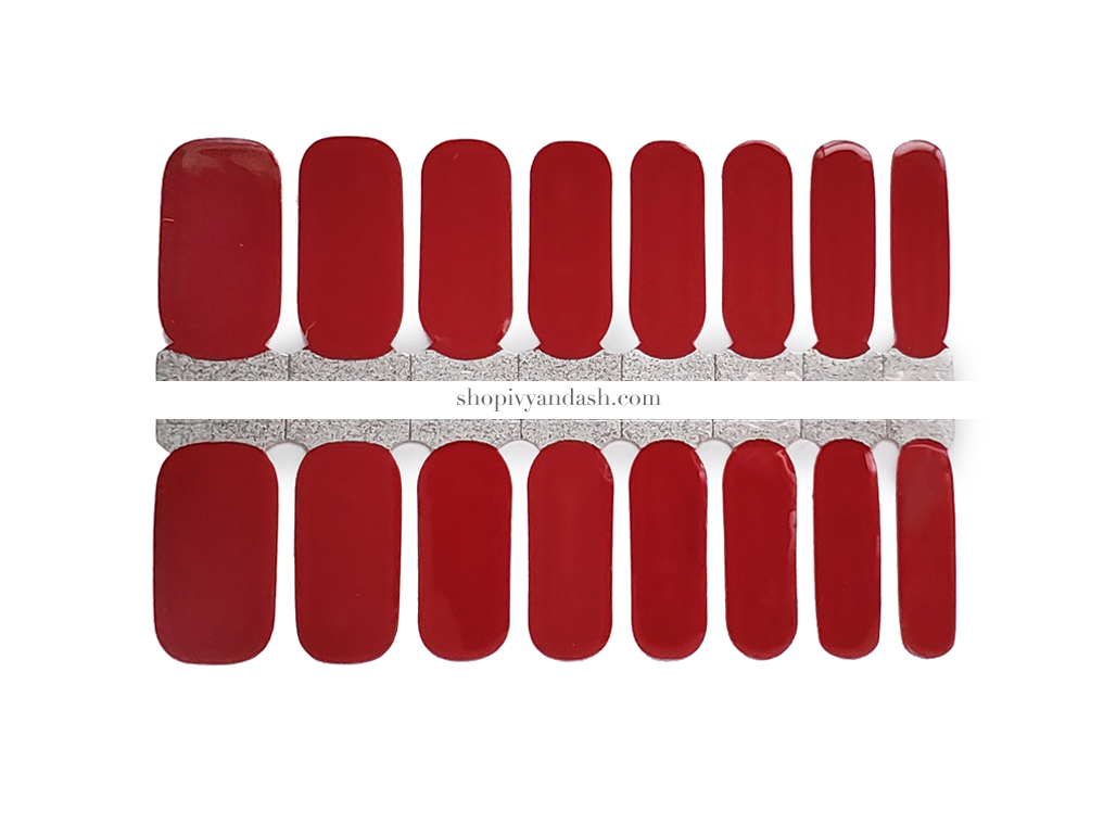 Red Velvet Nail Wrap Set