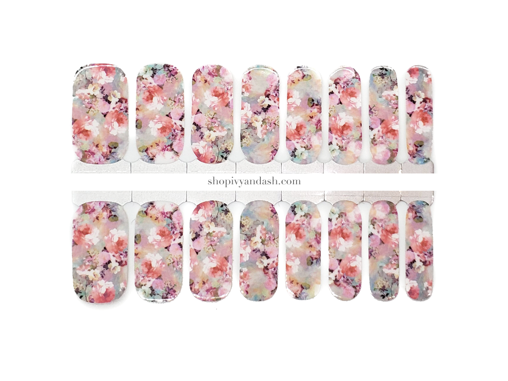 Rose Garden Nail Wrap Set