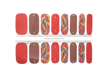 Load image into Gallery viewer, Saffron and Gold Nail Wrap Set