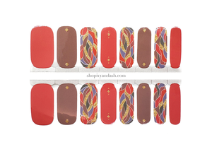 Saffron and Gold Nail Wrap Set
