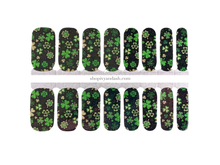 Load image into Gallery viewer, Shamrock Shimmer Nail Wrap Set