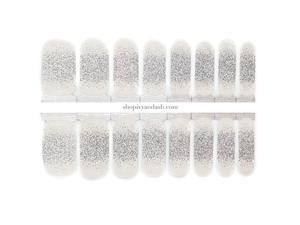 Silver French Glam Nail Wrap Set