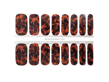 Load image into Gallery viewer, Tortie Nail Wrap Set