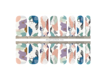 Load image into Gallery viewer, Cool pastel mod pattern nail wrap set from Ivy & Ash - at home DIY manicure set - easy and affordable nail strips