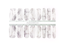 Load image into Gallery viewer, White Marble Nail Wrap Set