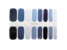 Load image into Gallery viewer, Winter Blues Nail Wrap Set - LIMITED EDITION