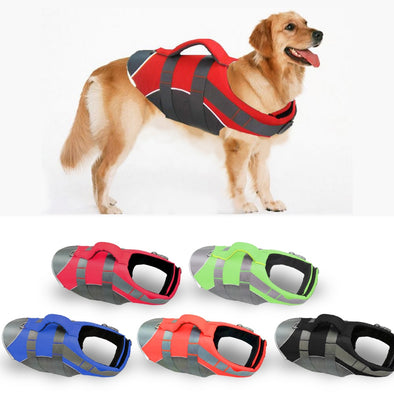 Dog Vest Pet Large Dog Life Jacket Clothes Labrador Golden Retriever Dog Surfing Swim Vest Clothes Swimwear Costume Pet Supplier