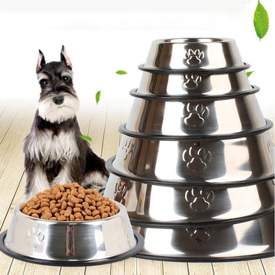 Stainless Steel Dog Bowl Travel Pet Dry Food Bowls for Cats Dogs Pink Dog Bowls Outdoor Drinking Water Fountain Pet Dog Feeder