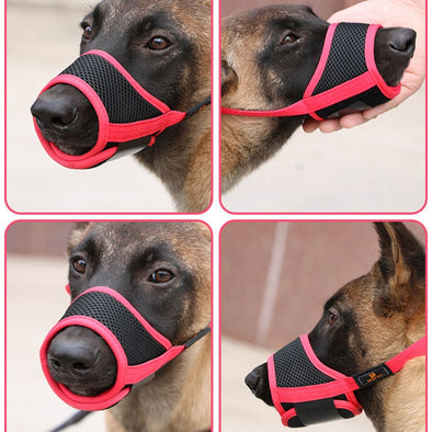 New Arrival Adjustable Dog Muzzle For Small Dog And Large Dog Breathable Mesh Dog Mouth Muzzle Soft Comfortable Muzzle