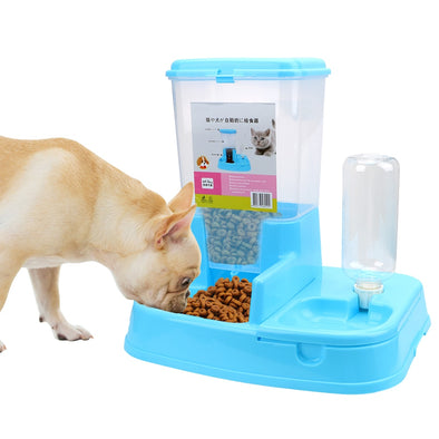 1 Set Pet Automatic Feeder Dog Cat Drinking Bowl Dog Supplies Large Capacity Dispenser For Dog Water Drinking Cat Feeding
