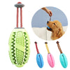 Interactive Pet Dog Toys Ball Chew Elasticity Funny Extra-tough Rubber Tooth Cleaning DoToy For Latge Small Dog Feeders Food Toy