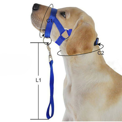 1pc Training Puppy Dog Muzzle Head Collars Halter Pet Mouth Traction Set Strap Harnesses Leads Pet Products Supplies New