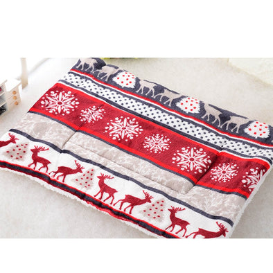 Autumn Winter Pet Dog Sleep Warm Soft Cushion Print Thicken Flannel Cotton Mattress Cats Dogs Mat Puppy Blanket Bed Pad