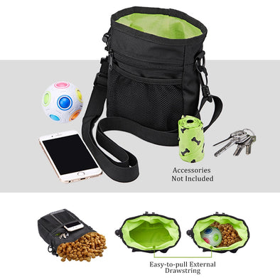 Dog Feeders Treat Training Pouch Multiple Pockets Easily Carrying Pet Treats Toys Built-in Poop Bags Dispenser Pet Dog Walking