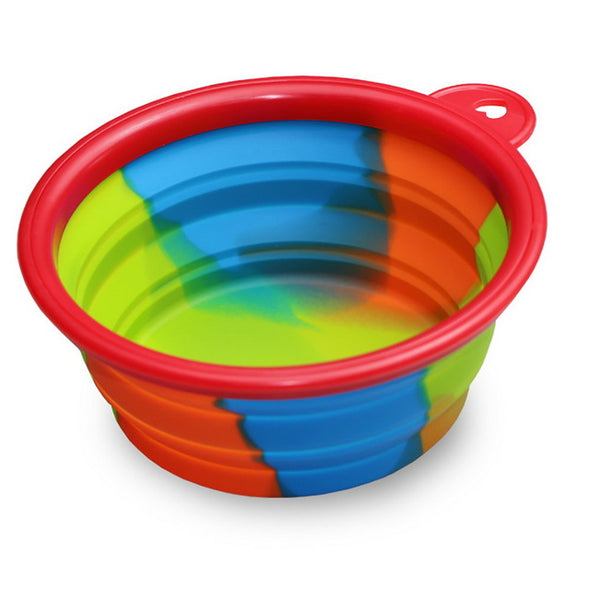 Hoomall Folding Dog Bowl Outfit Portable Travel Bowl Dog Feeder Water Food Container Silicone Small Mudium Dog Pet Accessories