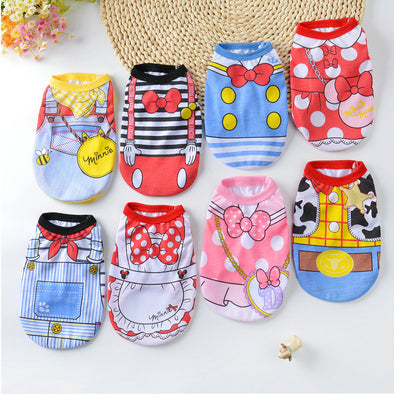 Dog Clothes Summer Pet Shirts For Dogs Costume Cat Clothing Cartoon Dog Vest Summer Clothes For Dogs Shirts Cotton Small Medium