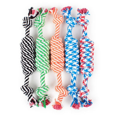 1 Pcs 27CM Dog Toys Funny Cotton Rope Toys For Small Puppy Dogs Pet Chew Toys Pet Supplies Random Colors