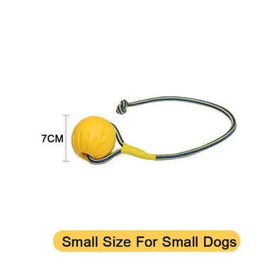Amphibious Dog Toys Ball with Rope/Flying Discs/Chew Toy Ring EVA Pet Toy For dogs Interactive Ball For Small/Large Dogs Cats