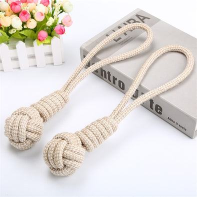 Pet Dog Chew Toy Braided Cotton Rope Puppy Bite-Resistant Molars Teeth Cleaning Toy for Small Medium Large Dogs Accessories