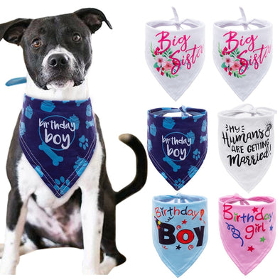 6 colors Dog Bandana Bibs Head Scarf Doggie Neckerchief Pet Cat Puppies Accessories Birthday Party cute lovely