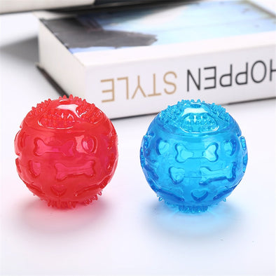 7 cm Dog Toy Interactive Rubber Balls Pet Dog Cat Puppy ElasticityTeeth Ball Dog Chew Toys Tooth Cleaning Balls Toys For Dogs