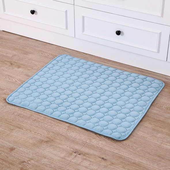 Pet Dog Summer Cooling Mats Blanket Ice Cats Bed Mats For Dog Sofa Portable Tour Camping Yoga Sleeping Massage Pet Accessories