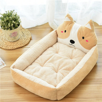 Lovely Dog Bed Mat Animal Cartoon Shaped Kennels Lounger Sofa Soft Pet House Dog Bed Pad Big Basket Dog Mattress Pet Supplies