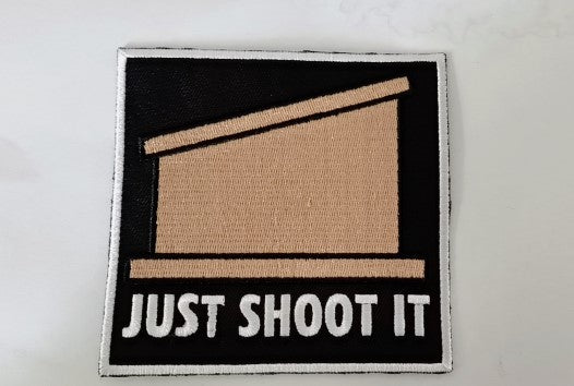 Just Shoot It Cornhole Patch - Discount Cornhole