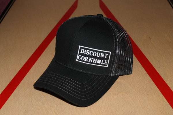 Discount Cornhole Offset Text Hat - Trucker Hat - Discount Cornhole