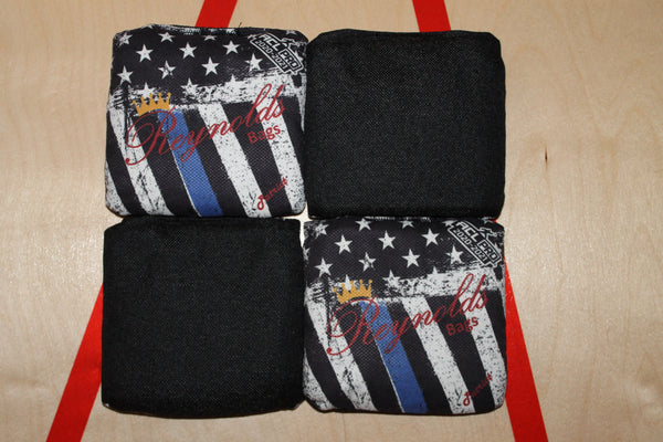 Reynolds: Patriot - Custom - Blue Line Flag - ACL Pro - Discount Cornhole