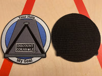 Your Hole, My Goal Patch & Sticker Package - Discount Cornhole