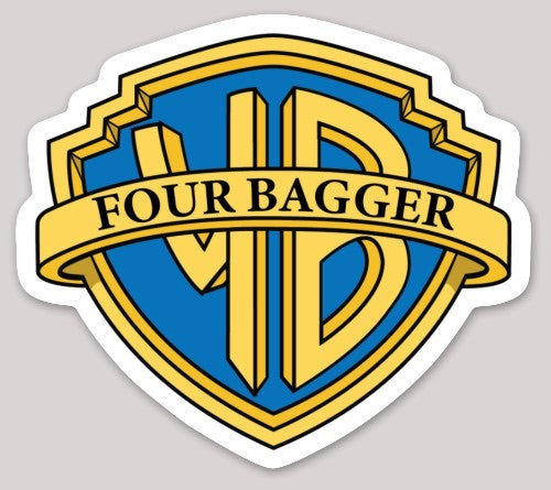 Four Bagger Sticker - Discount Cornhole