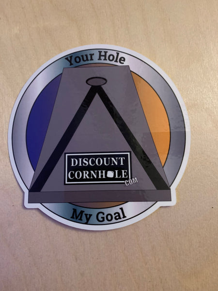 Your Hole My Goal Sticker - Discount Cornhole
