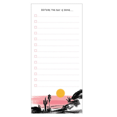 Sunset List Fridge Notepad