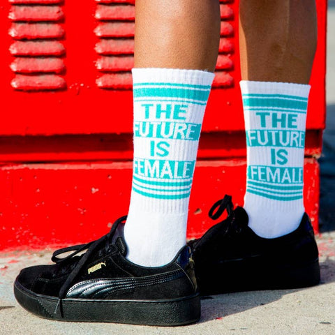The Future is Female Gym Socks
