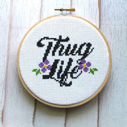Thug Life Cross Stitch Kit