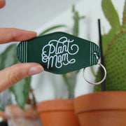 Plant Mom Motel Keychain