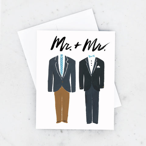 Groom and Groom Wedding Card
