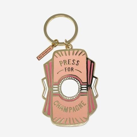 Press for Champagne Key Chain
