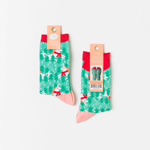 Holiday Unicorn Crew Women's Socks