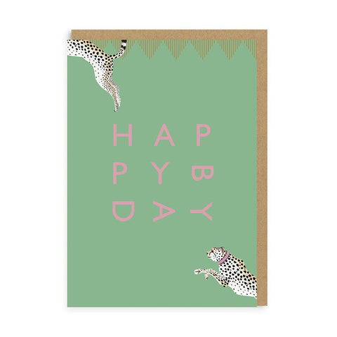 Happy Birthday Cheetah Card