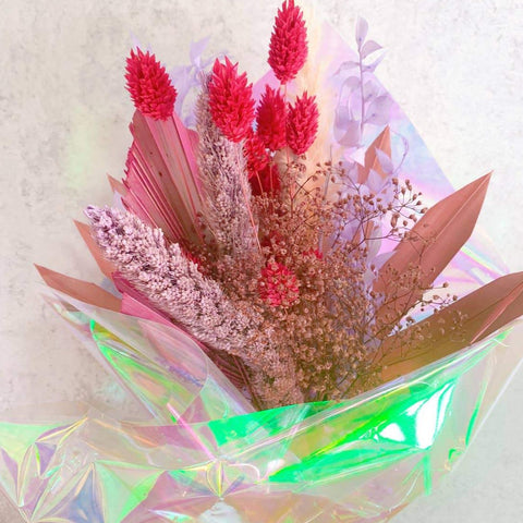Pretty in Pink Dried Bouquet
