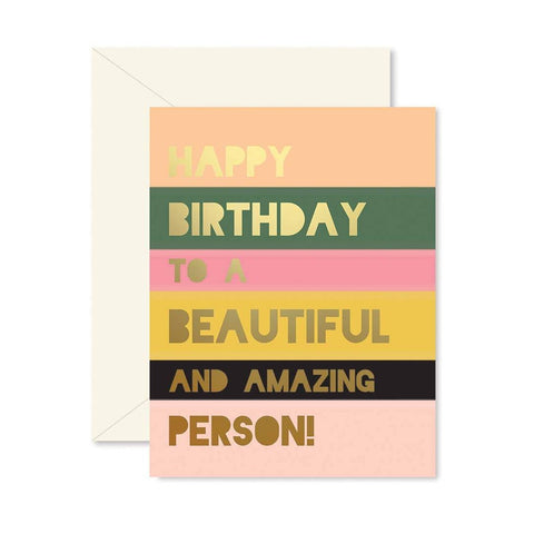 Beautiful Person Birthday Card