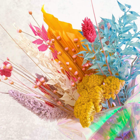 Rainbow Dried Bouquet