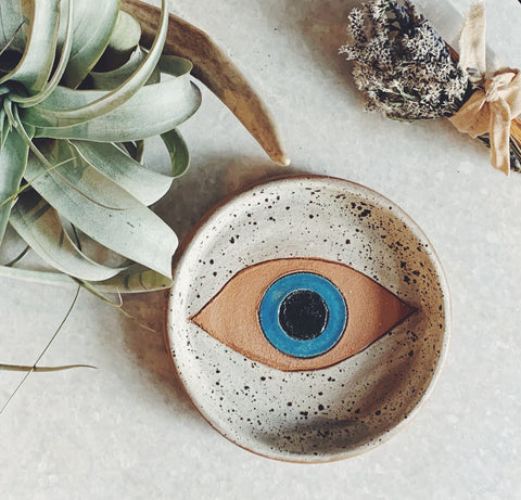 Evil Eye Ceramic Dish