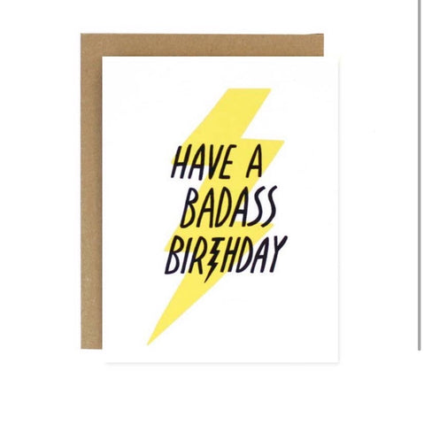 Birthday Badass Card