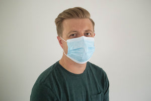 3-ply single use disposable surgical masks (package of 50)