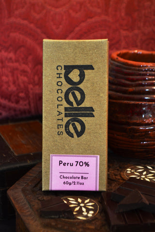 70% Dark Chocolate, Peru Single Origin